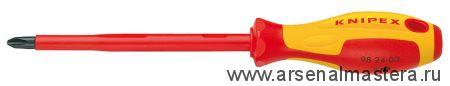 Отвертка для винтов с крестообразным шлицем Phillips (крестообразная 1000 V ) KNIPEX 98 24 00
