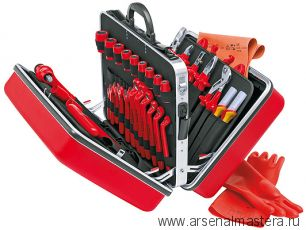 Чемодан универсальный с инструментами электроизолированными 48 предметов KNIPEX 98 99 14