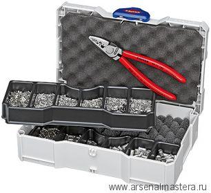 Набор кабельных наконечников с инструментом для опрессовки гильз контактных KNIPEX 97 90 05