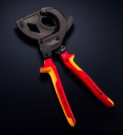 Резак для кабеля со стальным армированием, многокомпонентные ручки KNIPEX 95 32 315A