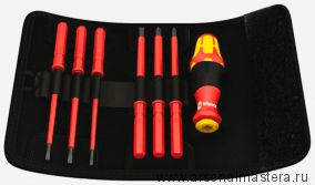 Набор в поясной сумке WERA 1000V отвертка со сменными стержнями 2,5 3,5 4,0 5,5 PH1*154 PH2*154