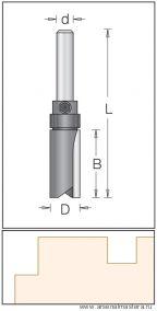 Концевая цилиндрическая пазовая фреза DIMAR для работы по шаблону 1072049