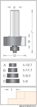 Концевая фреза для выборки четвертей DIMAR 1144069