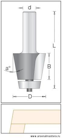 Концевая обгонная фреза с торцевым подшипником, для снятия фасок DIMAR 1510049
