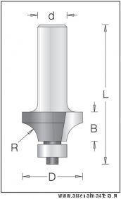 Концевая радиусная кромочная фреза для снятия фасок DIMAR 1550929
