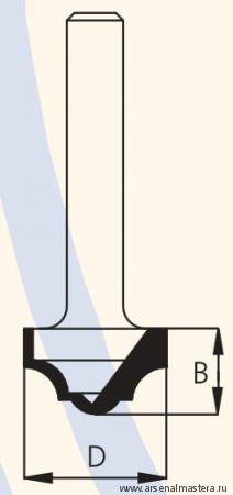 Фреза концевая врезная профильная W.P.W. RC10002