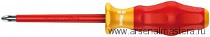 Изолированная отвертка для винтов Kraftform Comfort WERA 1165 i PZ VDE, PZ 2 / 100 мм, 031613
