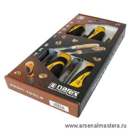 Набор полукруглых стамесок Narex SUPER 2009 LINE PROFI 4 шт (8,10,16,26 мм) в картонной коробке 860602
