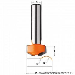 CMT 981.501.11 Фреза по искусственному камню (Антиперелив) S=12 D=25,4x12,7 R=7,93