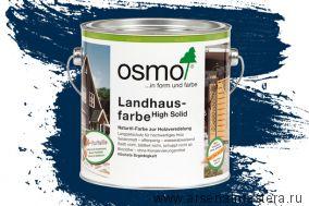 Непрозрачная краска для наружных работ Osmo Landhausfarbe 2506 темно-синяя 2,5 л
