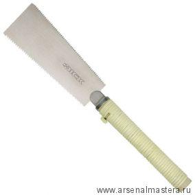Универсальная двухсторонняя японская пила (ножовка) Ryoba Compact 180 мм (светлый ротанг)
