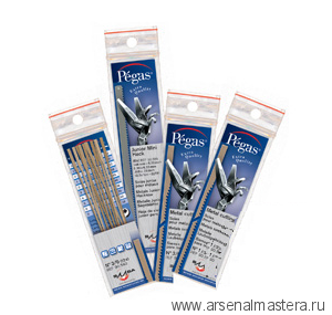 Пилки лобзиковые Pegas по металлу, N5 0.40х0.85х130мм, 35tpi, 12штук