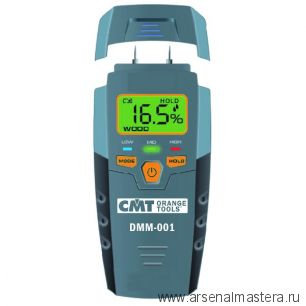 CMT DMM-001 Измеритель влажности (влагомер, гигрометр) цифровой для измерения влажности древесины и стройматериалов