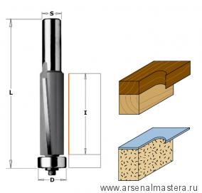 CMT 906.1950 Фреза PRO обгонная бреющий угол (нижн. подш.) S12 D19 I50,8 L110