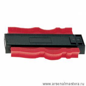 Калибр контурный (Шаблон профильный пластинчатый) 125*40 мм Dick 707146