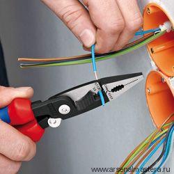 Многофункциональные клещи для электромонтажных работ KNIPEX 13 86 200