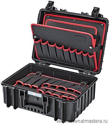 """Инструментальный чемодан """"Robust"""" (пустой) KNIPEX 00 21 35 LE"""
