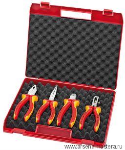Чемодан пластиковый Kompakt-box с набором инструментов, 4 предмета KNIPEX 00 20 15
