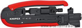 Компрессионный (обжимной) инструмент (ИНСТРУМЕНТ ДЛЯ ОПРЕССОВКИ) для штекера на коаксиальный кабель KNIPEX 97 40 20SB