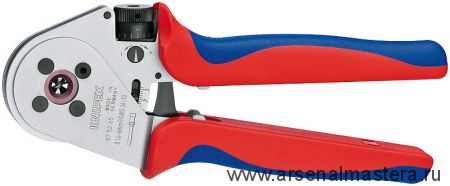 Инструмент для тетрагональной опрессовки контактов (ИНСТРУМЕНТ для опрессовки кабельных наконечников) KNIPEX 97 52 65А