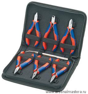 Набор инструментов для электроники, 7 предметов в кейсе, KNIPEX 00 20 16