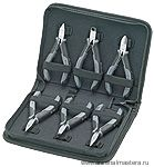 Набор плоскогубцев для электроники, 6 предметов в кейсе, KNIPEX 00 20 17