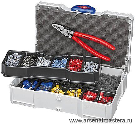 Набор кабельных наконечников с инструментом для опрессовки гильз контактных KNIPEX 97 90 06