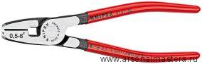 Инструмент для обжима контактных гильз с торцевой установкой (ОБЖИМНИК ручной) KNIPEX   97 81 180
