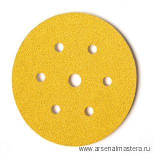 Шлифовальный круг на бумажной основе липучка  Mirka GOLD 150мм 6+1 отверстий P40 в комплекте 50шт.