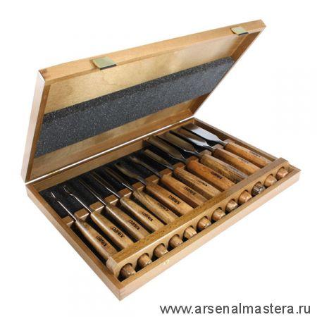 Набор профессиональных резцов Narex NB Profi 12 Set из 12 шт в деревянном кейсе 8681 00