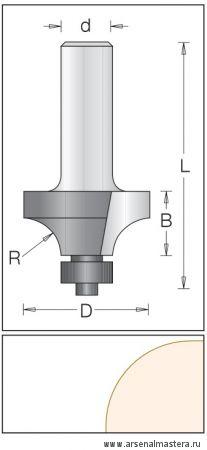 Концевая профильная врезная фреза DIMAR 1090109