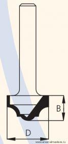 Фреза концевая врезная профильная D35 B15 d12 W.P.W. RC10002