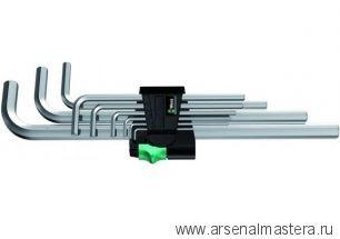 Набор г-образных ключей, метрических, хромированных WERA 950 L/9 SM N