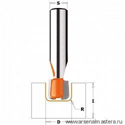 CMT 881.511.11 Фреза по искусственному камню пазовая S=12,7 D=15,87x12,7 R=3,17
