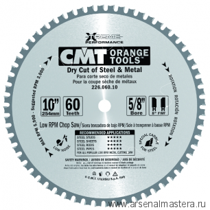CMT 226.080.12 Диск пильный для пиления стали, железа (сухой рез) 305x25,4x2,2/1,8 0 8 FWF Z80