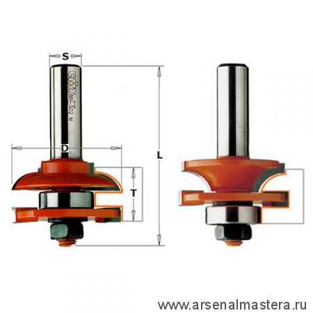 CMT 991.503.11 Комплект 2 фрез (C) Мебельная обвязка S12 D44,4